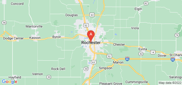 map of Rochester (MN), United States of America
