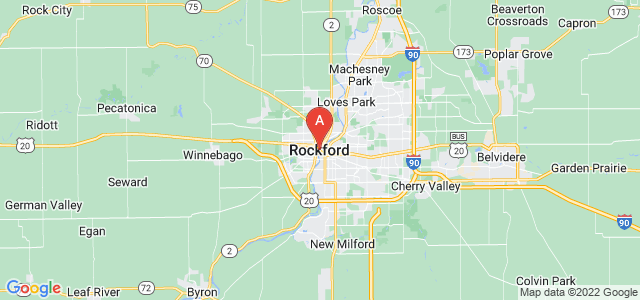 map of Rockford, United States of America