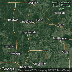 Static Map of Rodney, Michigan