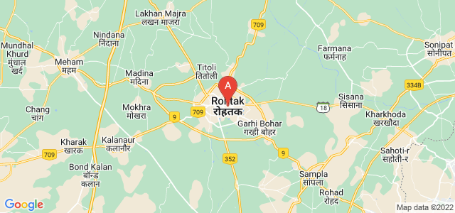 map of Rohtak, India