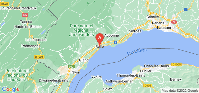 map of Rolle, Switzerland