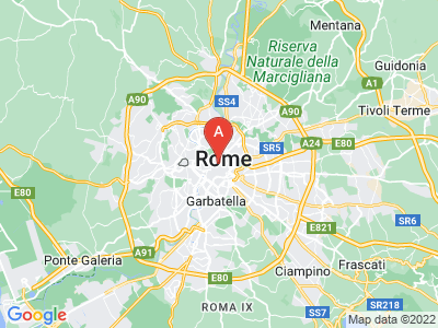 map of Rome, Italy