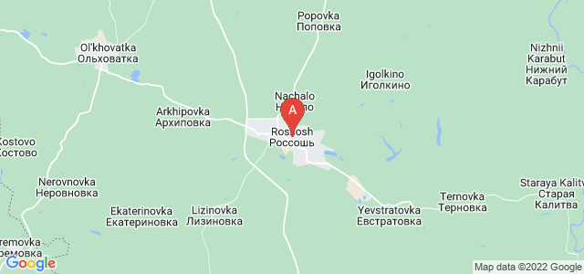 map of Rossosh, Russia