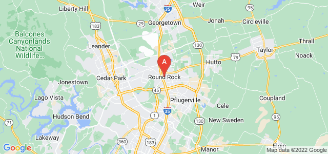 map of Round Rock, United States of America
