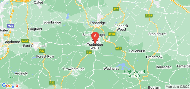 map of Royal Tunbridge Wells, United Kingdom