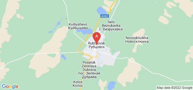 map of Rubtsovsk, Russia