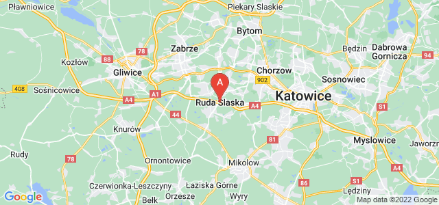 map of Ruda Śląska, Poland