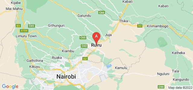 map of Ruiru, Kenya