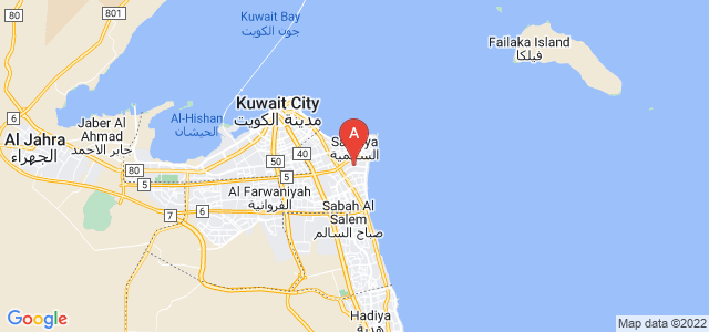 map of Rumaithiya, Kuwait