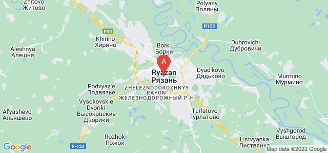 map of Ryazan, Russia