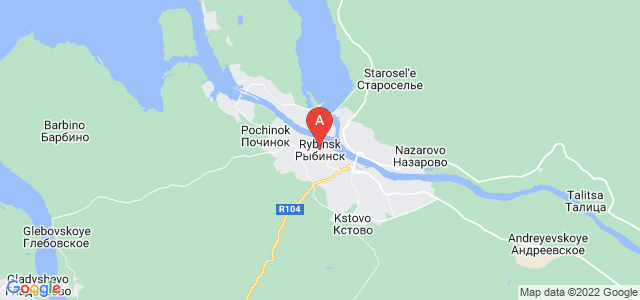 map of Rybinsk, Russia