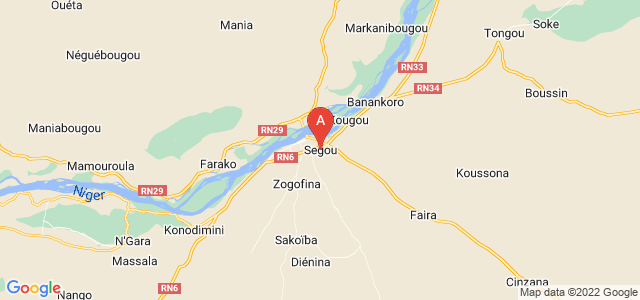 map of Ségou, Mali