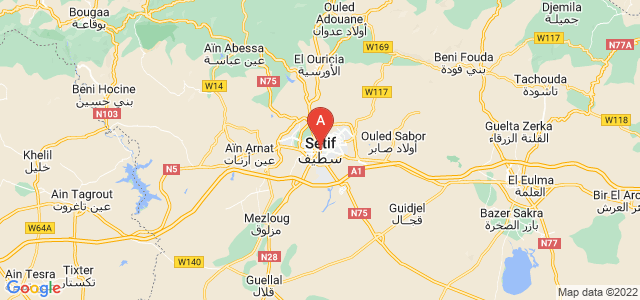 map of Sétif, Algeria