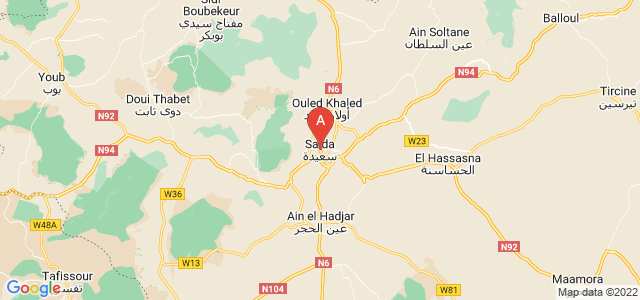 map of Saïda, Algeria