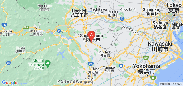 map of Sagamihara, Japan