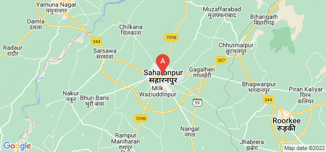 map of Saharanpur, India