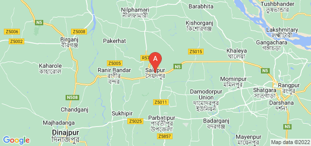 map of Saidpur, Bangladesh