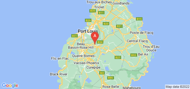 map of Saint Pierre, Mauritius