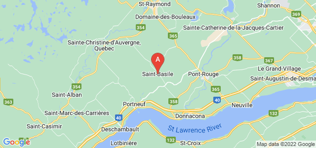 map of Saint-Basile, Canada