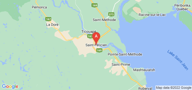 map of Saint-Félicien, Canada