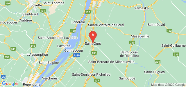 map of Saint-Ours, Canada