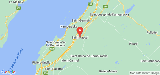 map of Saint-Pascal, Canada