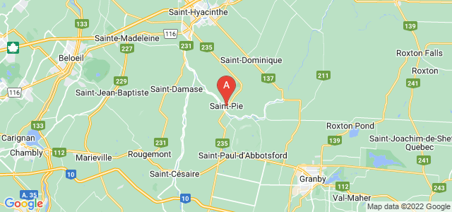 map of Saint-Pie, Canada