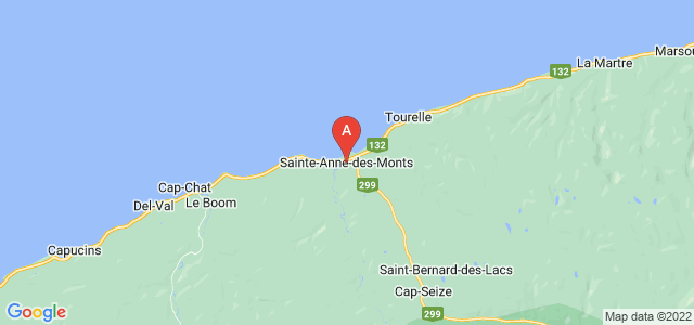 map of Sainte-Anne-des-Monts, Canada