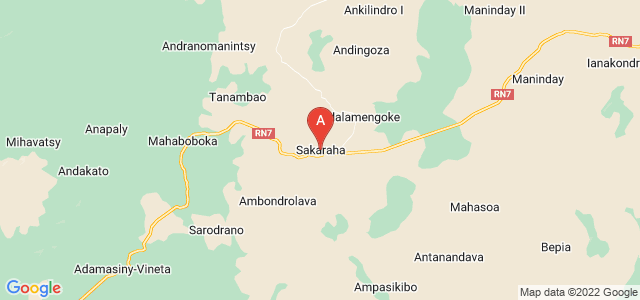 map of Sakaraha, Madagascar
