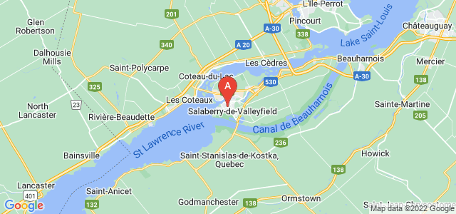 map of Salaberry-de-Valleyfield, Canada