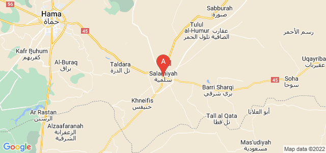 map of Salamiyah, Syria