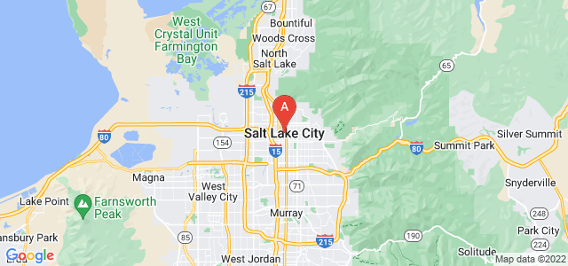 map of Salt Lake City, United States of America