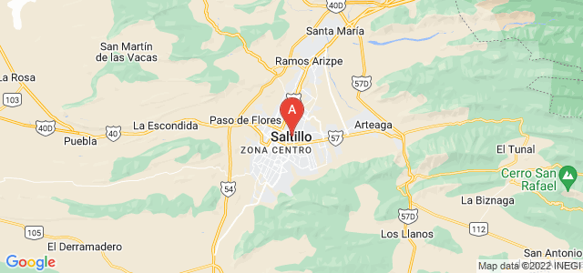 map of Saltillo, Mexico