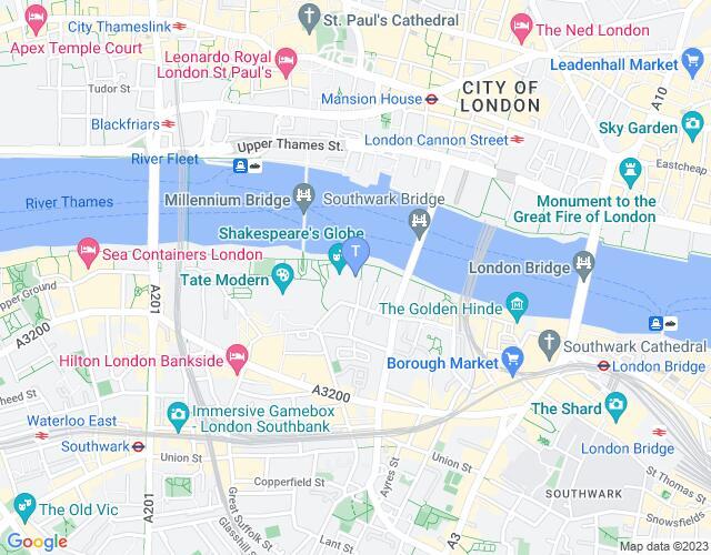 Location map for Sam Wanamaker Playhouse