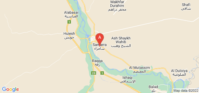map of Samarra, Iraq
