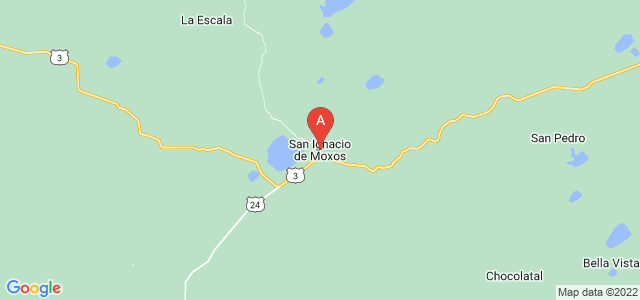 map of San Ignacio de Moxos, Bolivia