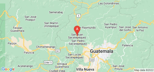 map of San Juan Sacatepéquez, Guatemala