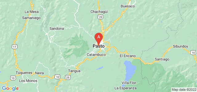 map of San Juan de Pasto, Colombia