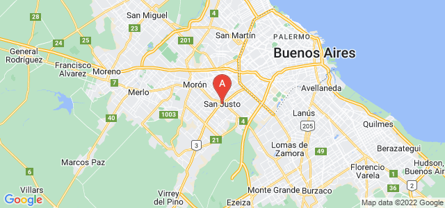 map of San Justo, Argentina