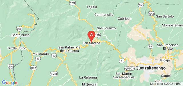 map of San Marcos, Guatemala