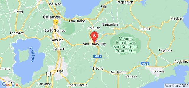 map of San Pablo, Philippines