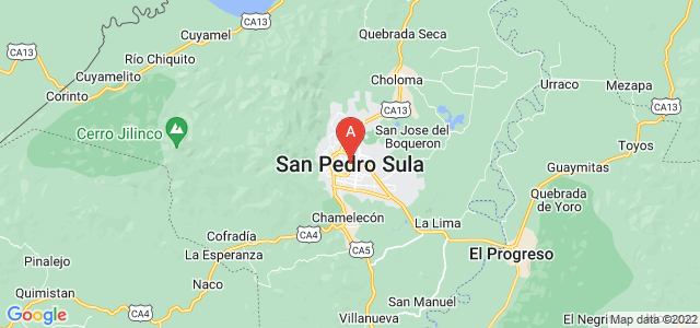 map of San Pedro Sula, Honduras