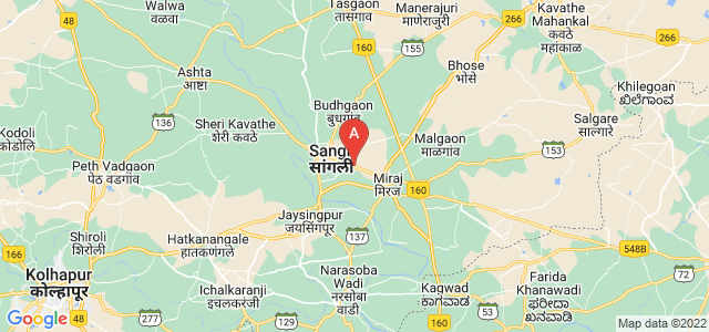 map of Sangli-Miraj & Kupwad, India