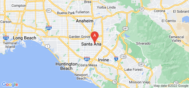 map of Santa Ana, United States of America