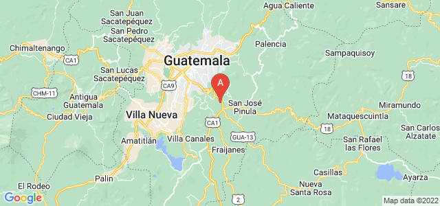 map of Santa Catarina Pinula, Guatemala