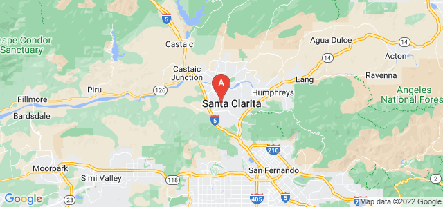 map of Santa Clarita, United States of America