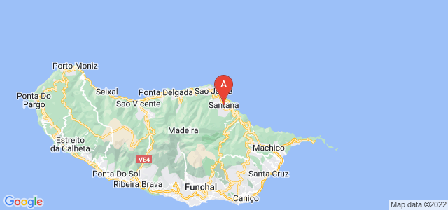 map of Santana, Portugal