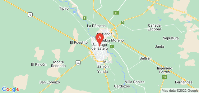 map of Santiago del Estero, Argentina