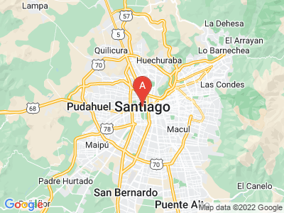 map of Santiago, Chile