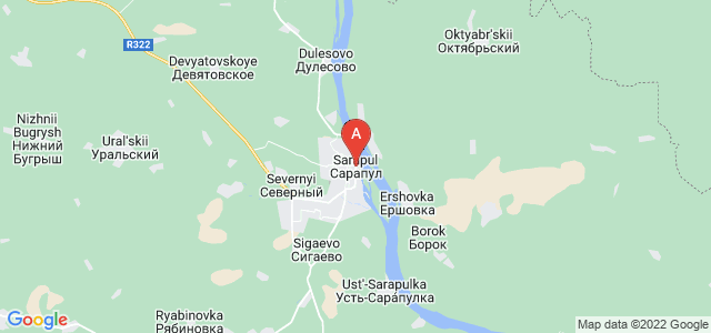 map of Sarapul, Russia